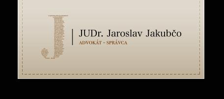 Judr. Jaroslav Jakubčo logo